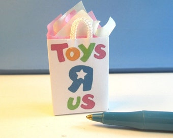Miniature Size SHOPPING BAG, Famous Toy Store  : SHB471