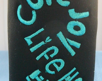 Ovarian Cancer Bottle Cozy - Words of Encouragement