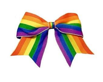 Gay Pride Hair Bow