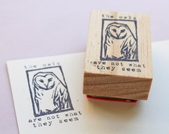 the owls are not what they seem, Twin Peaks fan art, Twin Peaks rubber stamp, Twin Peaks gifts