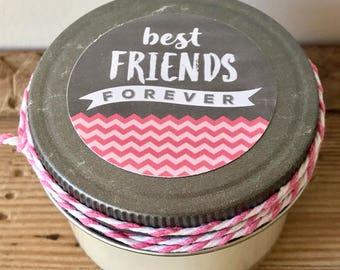 BEST FRIENDS 4 oz CANDLE - best friends pink