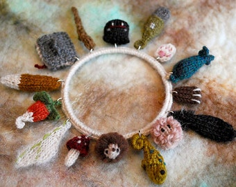 care of magical creatures charm bracelet 2 KNITTING PATTERN