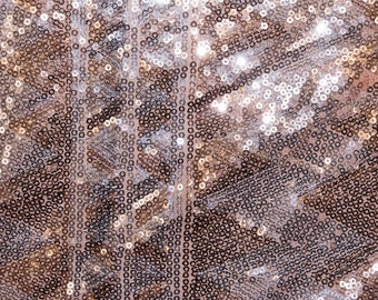 Geometric Pattern Embroidered Sequin #84 All Over Pink Mesh Apparel Fabric By The Half Yard
