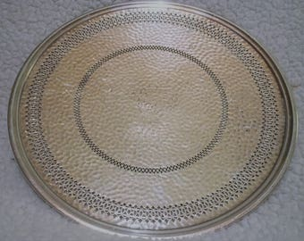 """10"""" Silver Plated Meriden Tray, Numbered 758, Very ornate design"""