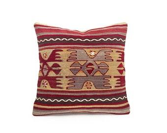 woven pillow, decorative pillows, throw pillow, decorative pillow, wool pillow cover, hand woven pillow, kilim pillow, home decor