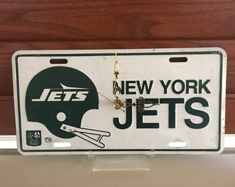 New York Jets Vanity License Plate Clock