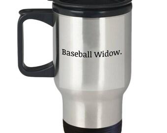 baseball widow, gift for wife, girlfriend gift, baseball, ceramic coffee mug, funny coffee mug, baseball coffee mug, baseball fan mug
