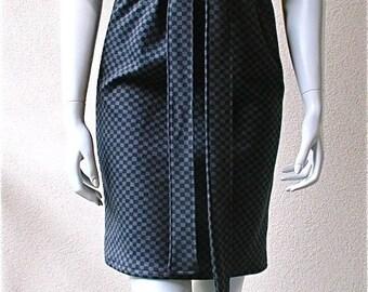Sample Sale - Tulip skirt - wool interlock in black grey checkers