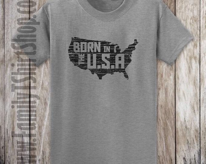 USA Map- Born In The USA T-shirt