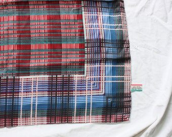 Vintage 1960s Plaid Scarf