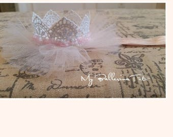 White Lace Crown, Baby Crown Lacce, First Birthday, Headband