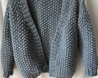 Georgia, loose, chunky Cardigan knit