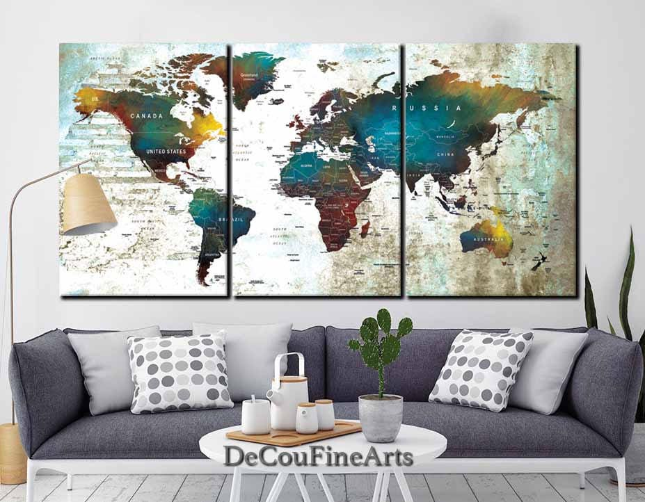 Large world map wall art multiple panelspush pin mapworld map large world map wall art multiple panelspush pin mapworld map canvasworld map printworld map artpush pin map canvaspush pin map canvas gumiabroncs Image collections