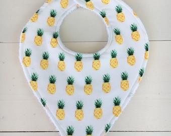Pineapple Print Cotton Drool bib or Burp Cloth