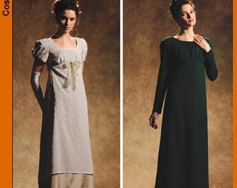Simplicity 4055-Regency Gown/Dress-Pride n Prejudice Gown size 6-12 Out of Print