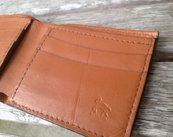 Men's Genuine Calfskin Leather Wallet (Monogrammed Optional)