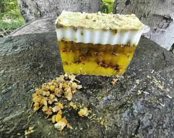 Chamomile-honey bath bar