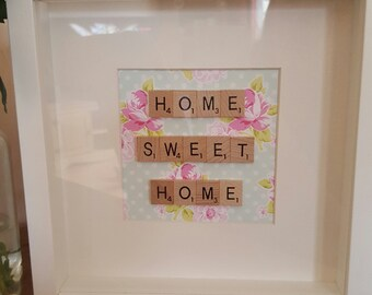 Home Sweet Home  scrabble frame