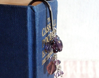Purple Beaded Cluster Bookmark