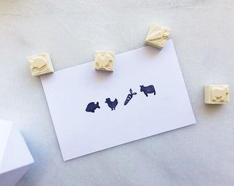 Repas option tampons en caoutchouc, la main sculptée timbre en caoutchouc, option de repas de mariage, option alimentaire