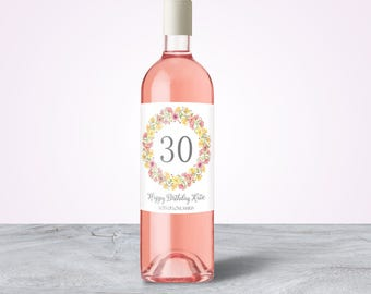30th Birthday Gift Idea, 30th Birthday for Her, 30th Birthday for Him, Custom Wine Label, 30th Birthday Gift for Her, 30th Birthday Present