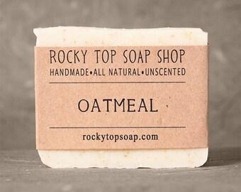Oatmeal Soap, Unscented Soap, Natural Soap, Mens Soap, Sensitive Skin Soap, Exfoliating Soap, Vegan Soap, Rustic Soap