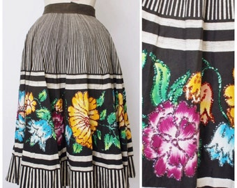 Vintage 1950s Mexican Skirt | Mexican Circle Skirt | Full Skirt | Mexican Full Skirt
