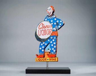 Circus Liquor neon sign photo / clown art / circus art / bar art / neon sign / mid century art / los angeles art / hollywood photo /