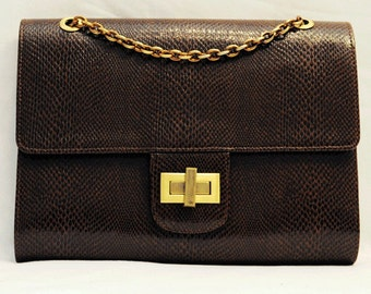 SALE Leather Chain-Trimmed Clutch Bag SALE