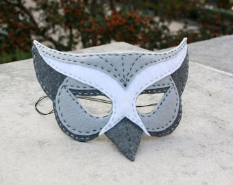 Handstitched Felt Mask, The Owl