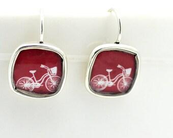 Bicycle Earrings• Bike Earrings • Cyclist Earrings • Sports Jewelry • Bicycle Gifts • Cyclist Earrings • Sporty Gifts