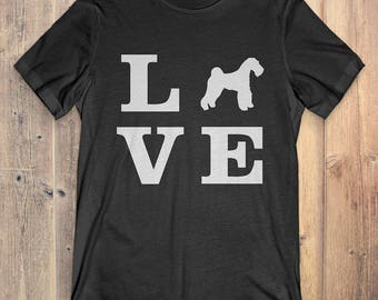 Airedale Terrier Dog T-Shirt Gift: I Love Airedale Terrier