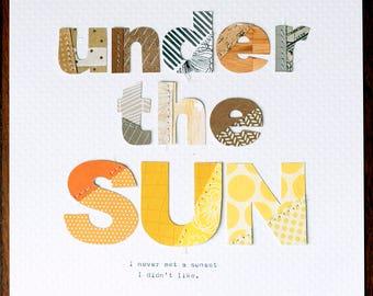 Under the SUN - DIN A4 (30x21 cm) Collage Print - Wall Art Decor