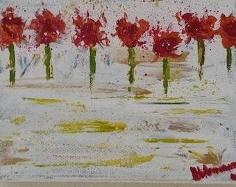 Original mini painting 'Loved up'