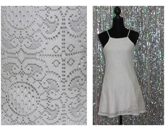 90s White Lace Flare Dress (S) *Excellent Dress