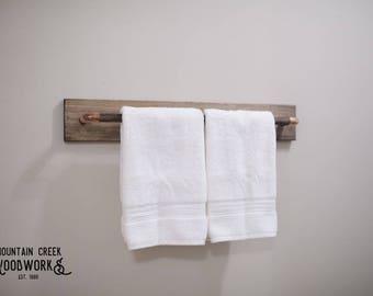 Rustic Wooden Towel Rod, Rustic Wooden Towel Rack, Handmade Towel Rod, Wood Towel Rod, Wood Towel Rack