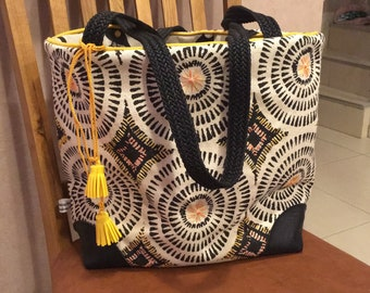 Hand embroidered ethnic tote bag