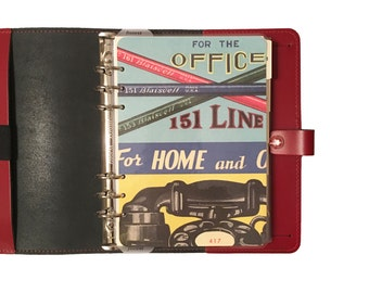 A5 Planner Dashboard: Vintage Office Collage