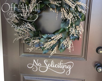 No Soliciting, window or door decal, commercial business decals, no solicit