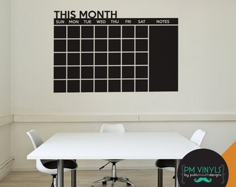 This Month Calendar Chalkboard Vinyl Decal