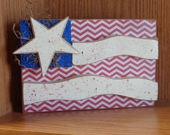 Summer Decor- USA Decor-Americana decor-4th of July Decor- American Flag