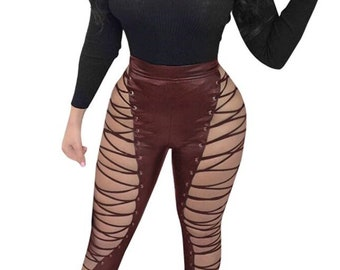 Laced high waisted  pants