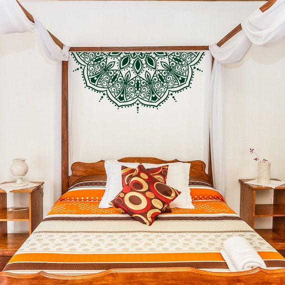 wall decals for master bedroom flower mandala wall decal master bedroom decor half mandala 20083