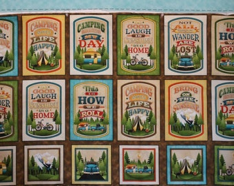 Outdoor Adventures by Angela Anderson for Quilting Treasures  A124  Sold by the Panel