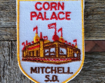 Corn Palace Mitchell South Dakota Vintage Souvenir Travel Patch from Voyager - LAST ONE!