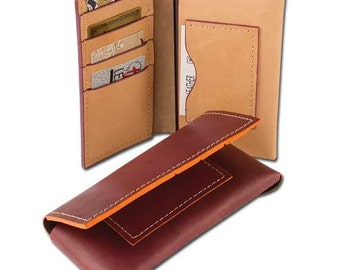 Genuine leather phone case wallet kit - diy - make your own wallet - craft project - iphone