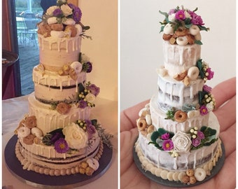 Wedding Cake Replica, Wedding Cake Ornament, 1st Anniversary Gift, First Christmas Ornament Married, Anniversary Ornament, Wedding Ornament