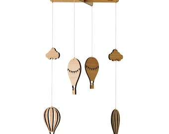 Hot Air Balloon Mobile | Nursery Mobile | Laser cut Nursery & Kids Decor