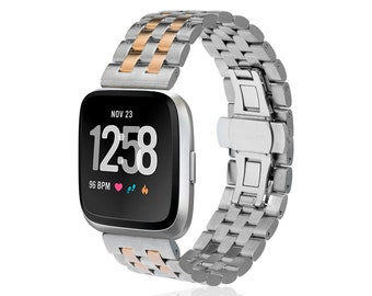 Watch Band LINK for Fitbit Versa - more colors available - stainless steel
