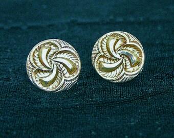 1800s Button Post Earrings